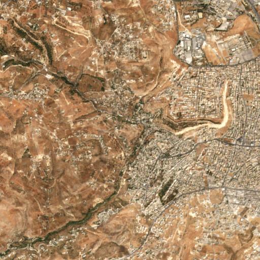 satellite view of the region around Khirbet es Sireh