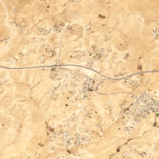 satellite view of the region around Khirbet Kuseife