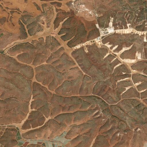 satellite view of the region around Horbat Lehem