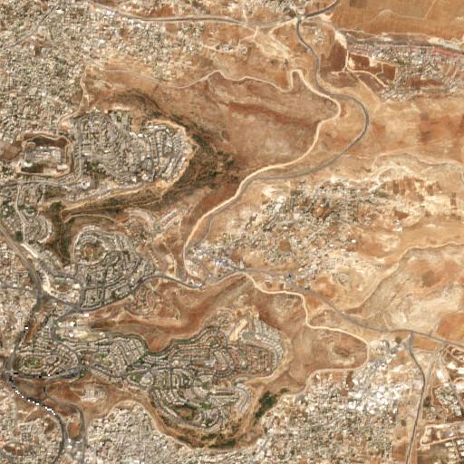 satellite view of the region around Ras Zukeir
