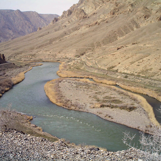 panorama of the Aras River