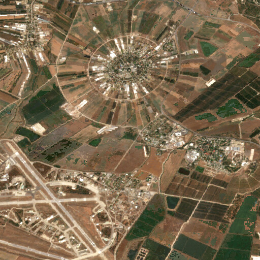 satellite view of the region around Horbat Sefan