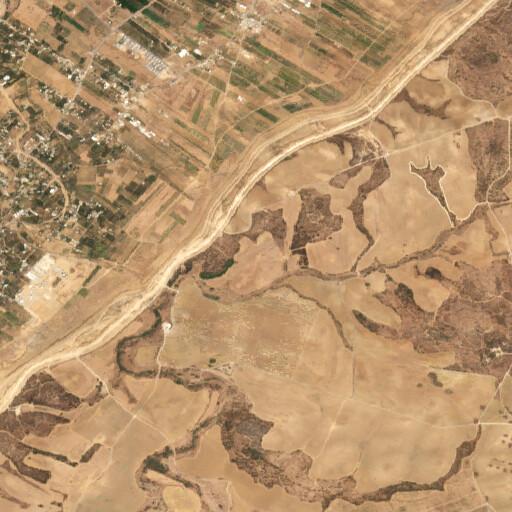 satellite view of the region around Horbat Adar