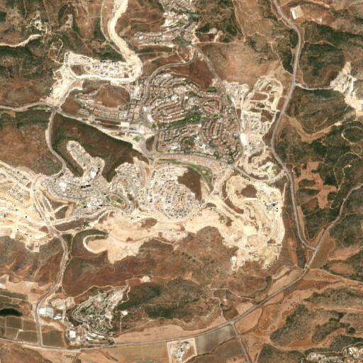 satellite view of the region around Khirbet Shumeila