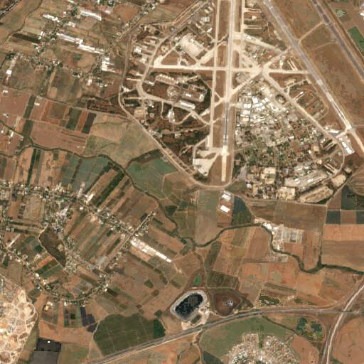 satellite view of the region around Tell el Ful