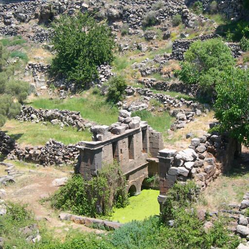 panorama of ruins at Qanawat