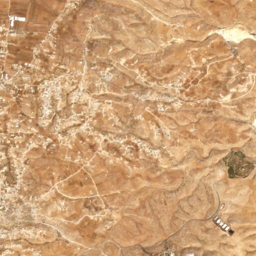 satellite view of the region around Khirbet Umm Lasafa