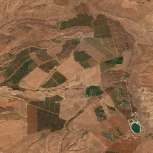 satellite view of the region around Ain el Habus
