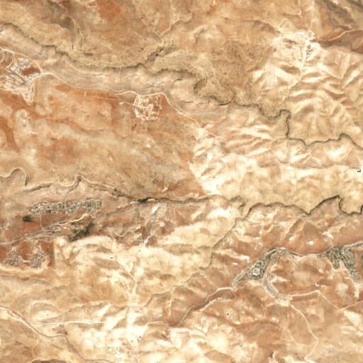 satellite view of the region around Khirbet Ein Fara