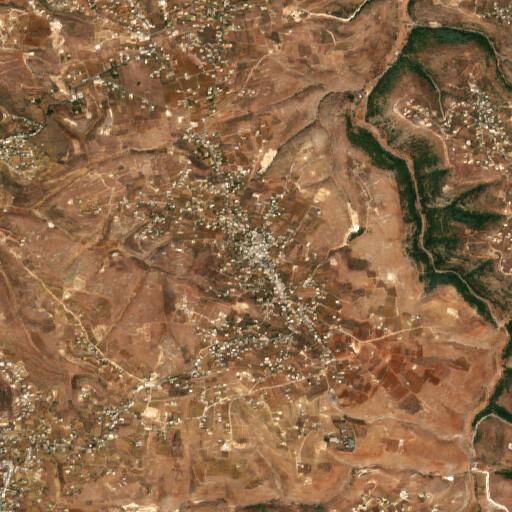 satellite view of the region around Majdel Selem