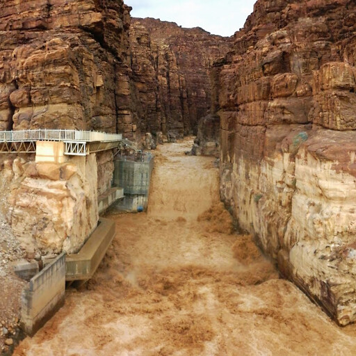 canyon at the mouth of Wadi Mujib