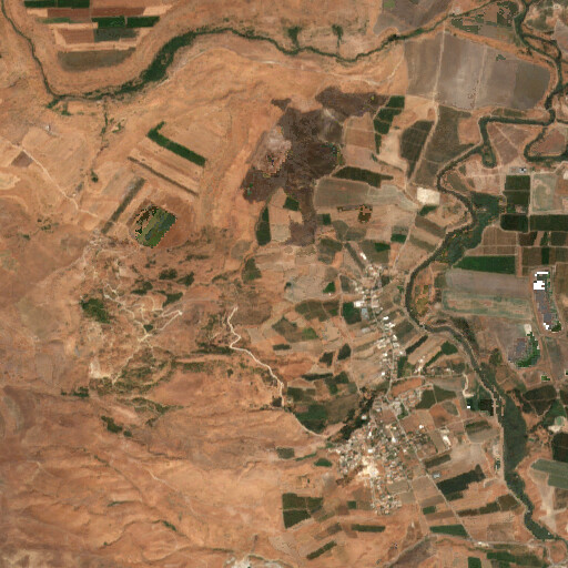 satellite view of the region around Khirbet Anim