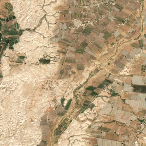 satellite view of the region around Tell Umm Hamad