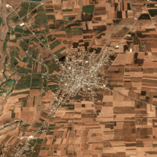 satellite view of the region around Saham al Jawlan