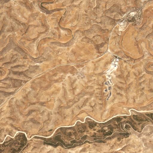 satellite view of the region around Khirbet Zanuta