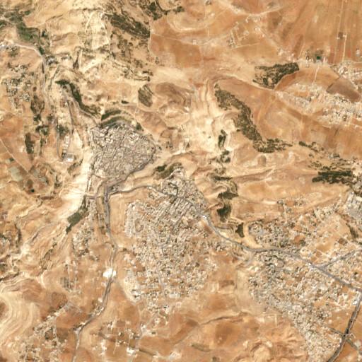 satellite view of the region around Rujm el Jilimeh