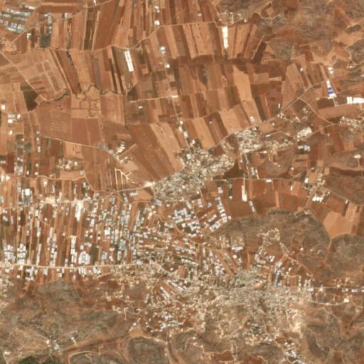 satellite view of the region around Beit Qad