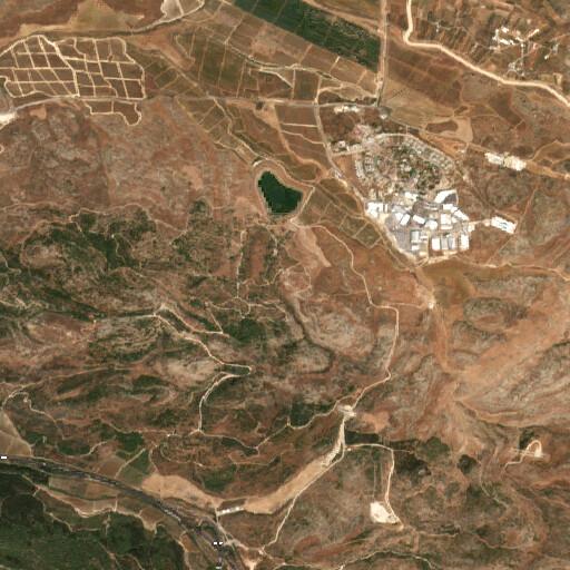 satellite view of the region around Tell el Kokah