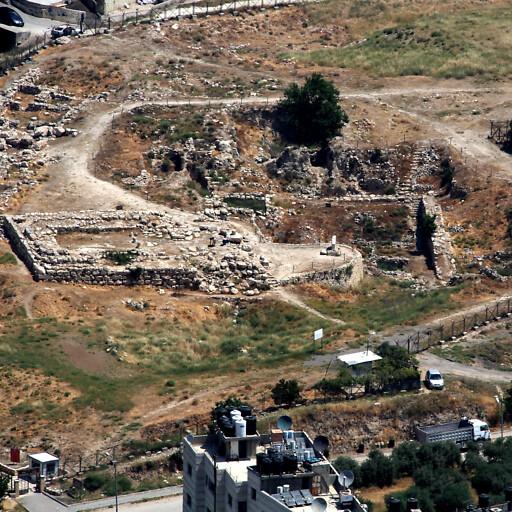 aerial panorama of Tell Balatah