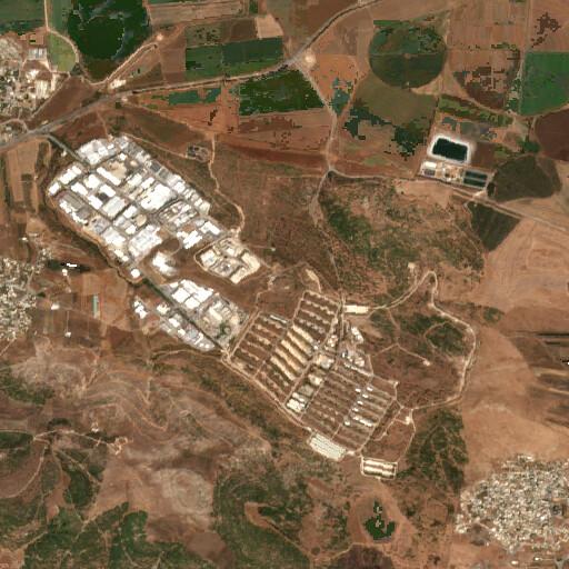 satellite view of the region around Tell el Ajjul