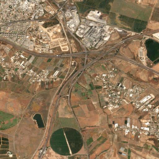 satellite view of the region around Ras Abu Hamid