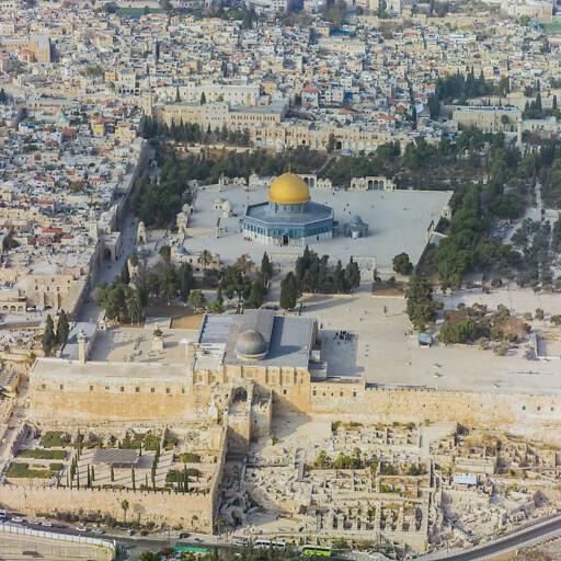 aerial cityscape of Jerusalem