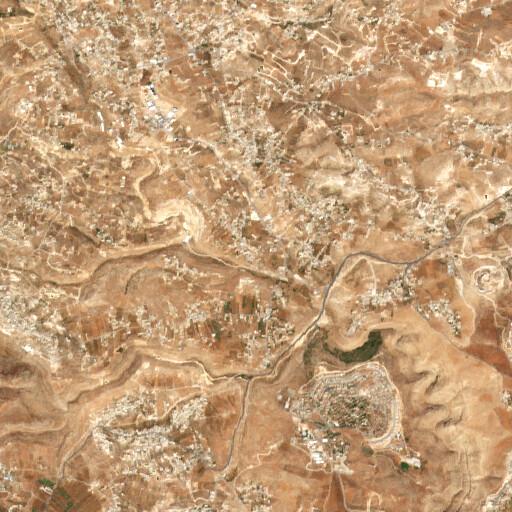 satellite view of the region around Khirbet Badd Faluh