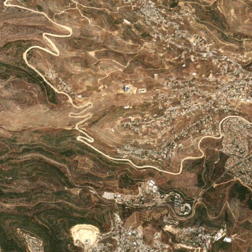 satellite view of the region around Khirbet el Kefireh