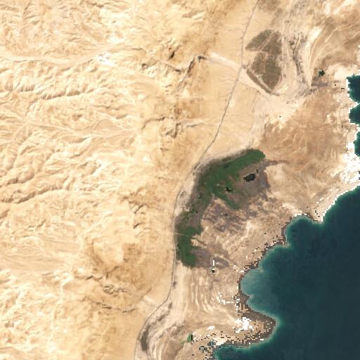 satellite view of the region around Ain el Ghuweir