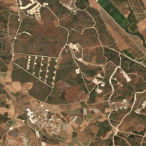 satellite view of the region around Khirbet Fered
