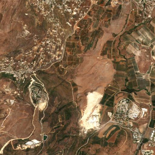 satellite view of the region around Khirbet Niha