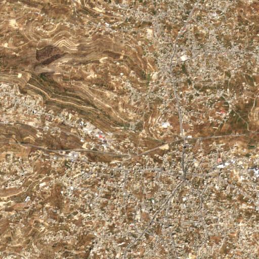 satellite view of the region around Burj el Haska