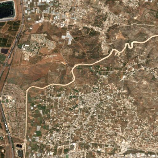 satellite view of the region around Khirbet Shuweikat er Ras
