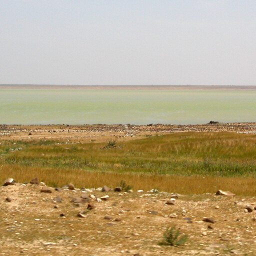 panorama of a lake in the region between Aleppo and Carchemish