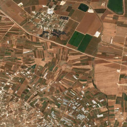 satellite view of the region around Khirbet Jadurah