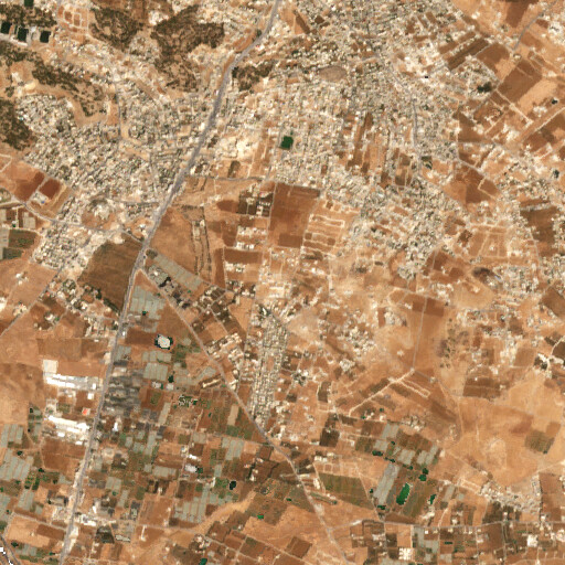 satellite view of the region around Khirbet el Yadudeh