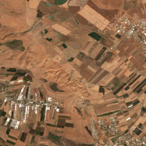 satellite view of the region around Khirbet Bessum