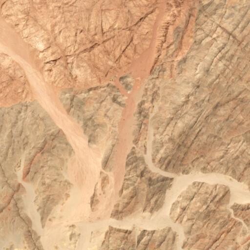satellite view of the region around Wadi el Esh