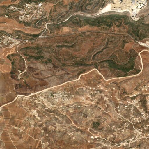 satellite view of the region around Khirbet Alin