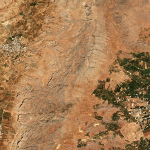 satellite view of the region around Jebel Zabadani