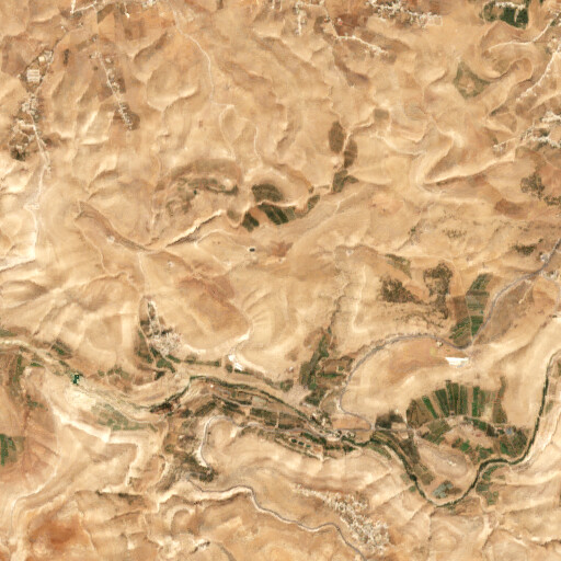 satellite view of the region around Khirbet Umm el Idham