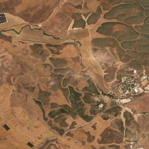 satellite view of the region around Khirbet el Ater