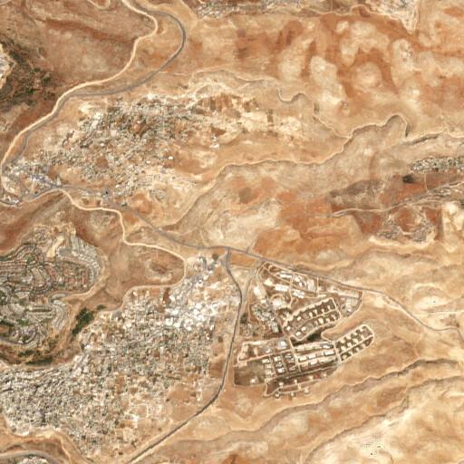 satellite view of the region around Khirbet Almit
