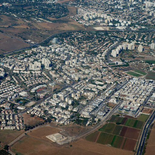aerial cityscape of Or Yehuda