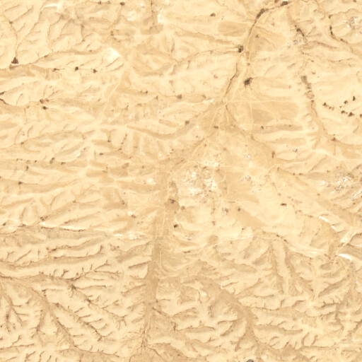 satellite view of the region around Khirbet Abu Tulul