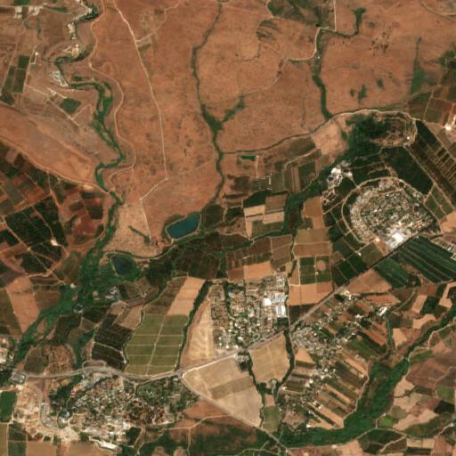 satellite view of the region around Khirbet Dufnah