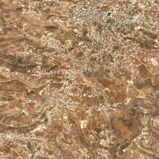 satellite view of the region around Khirbet el Marajim