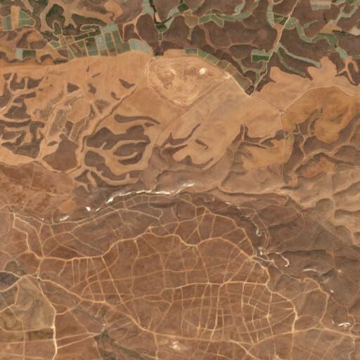 satellite view of the region around Tel Haraqim