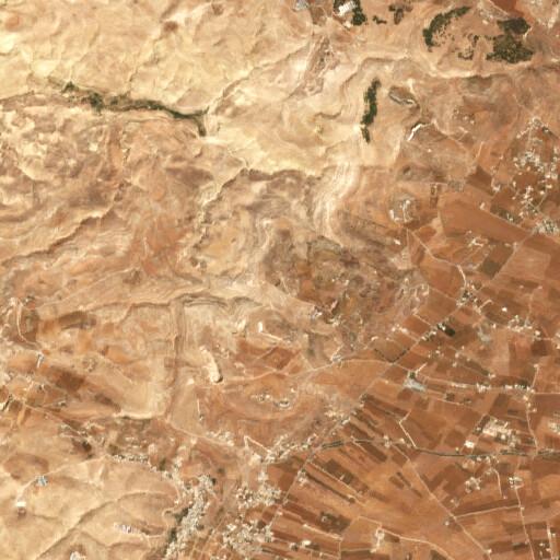 satellite view of the region around Khirbet el Quweiqiyeh