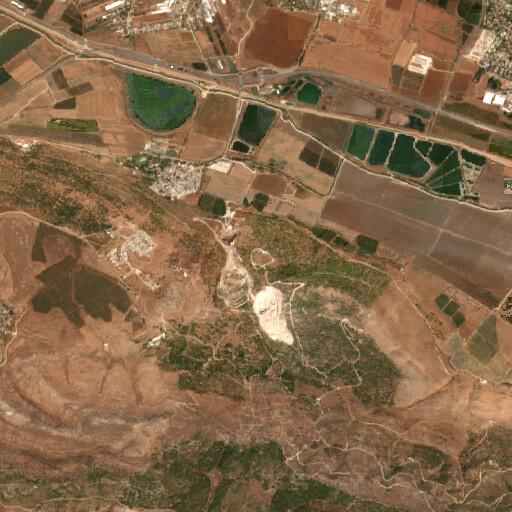 satellite view of the region around El Karm